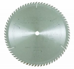 Hitachi 725206 72-Teeth Tungsten Carbide Tipped 10-Inch Arbor Finish - for cutting aluminum, steel and metal