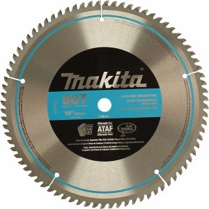 Makita A-93681 10-Inch 80 Tooth Micro Polished mitre saw blade for cutting pvc pipe, hardwood flooring,